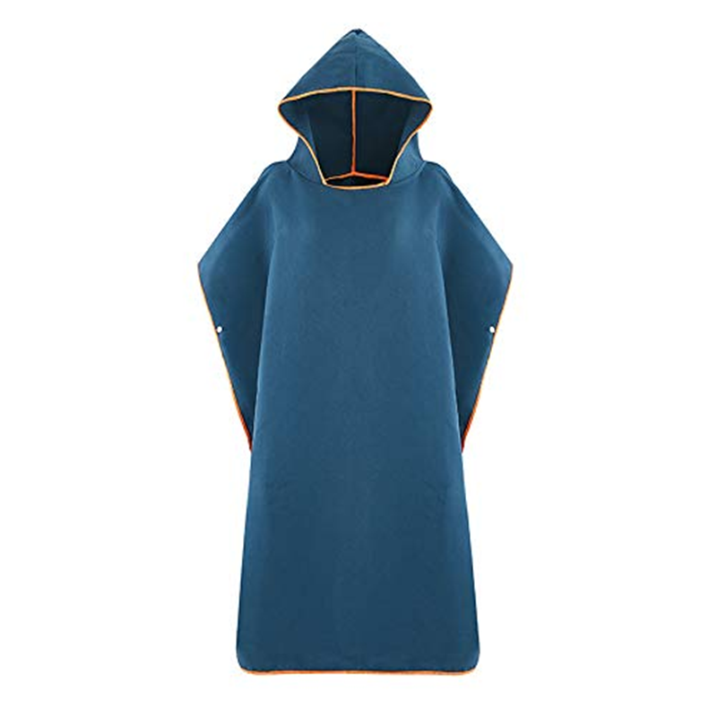 Ultralight cape Fast Drying Unisex Poncho Hooded Microfibre Towel